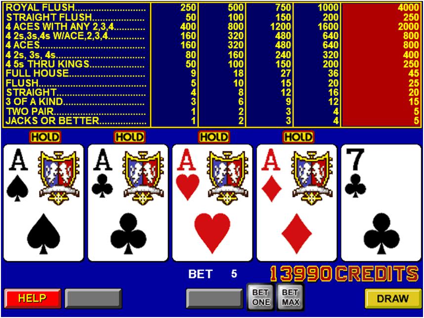 Basic Video Poker Game
